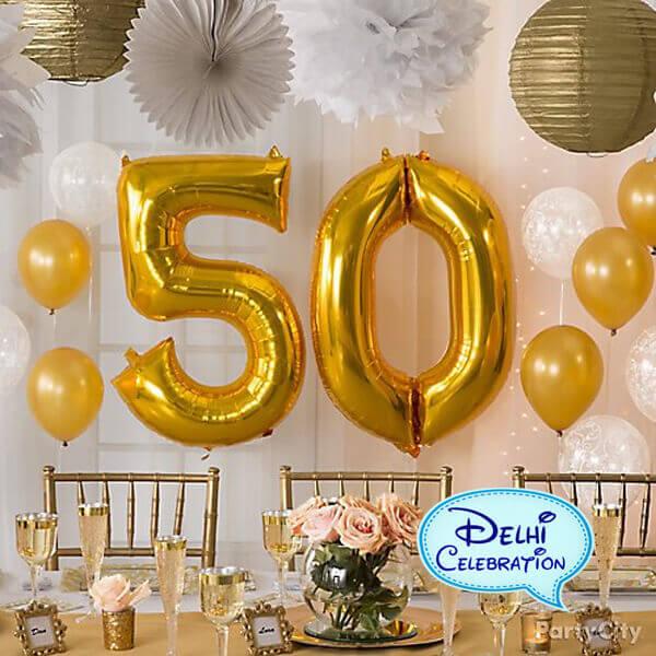 Golden Jubilee Party Decorations in Delhi