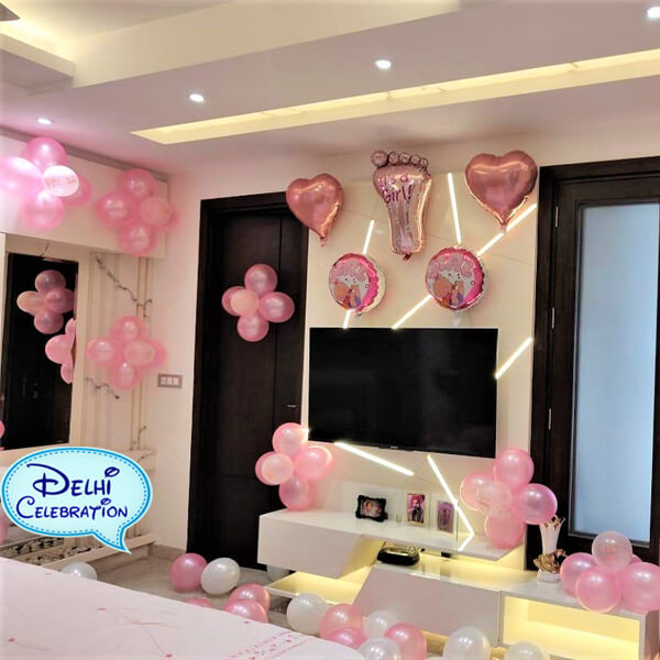 Welcome Baby Girl Party Decorations in Delhi