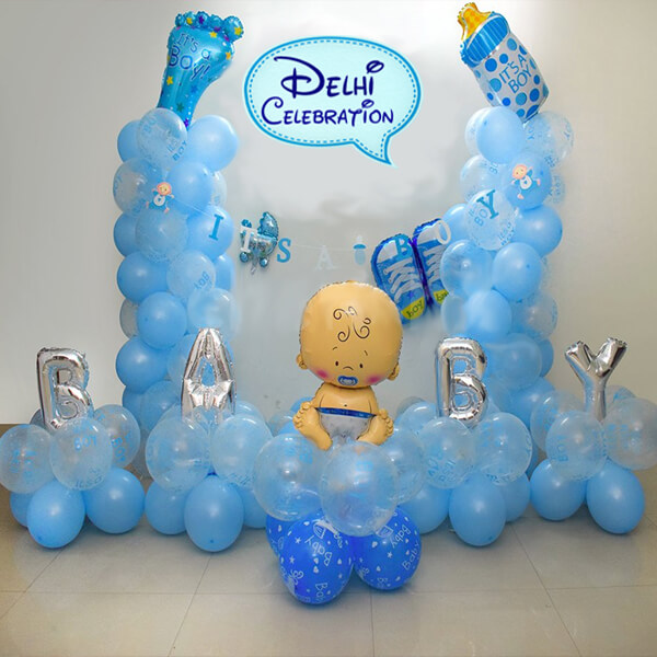 Welcome Baby Boy Party Decorations in Delhi