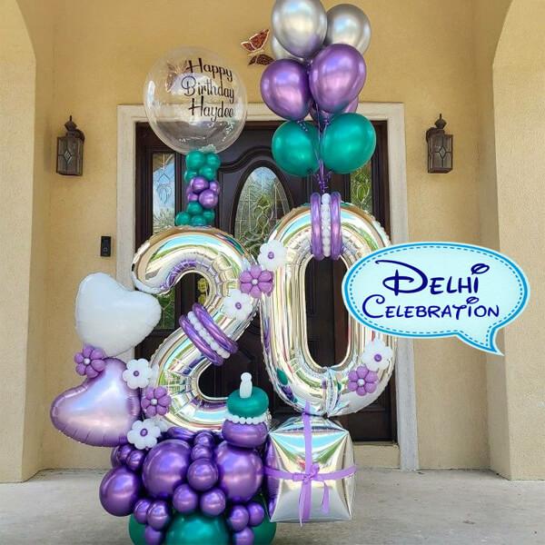 Helium Gas Balloons Delivery in Delhi, Noida
