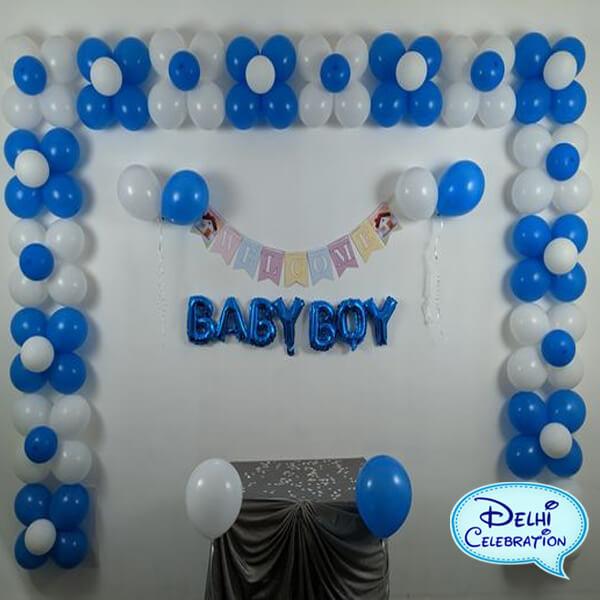 welcome baby boy party decoration in Delhi, Noida