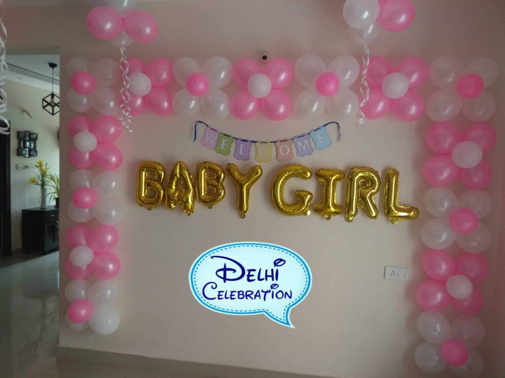 Welcome Baby Girl Party Decoration in Delhi, Noida
