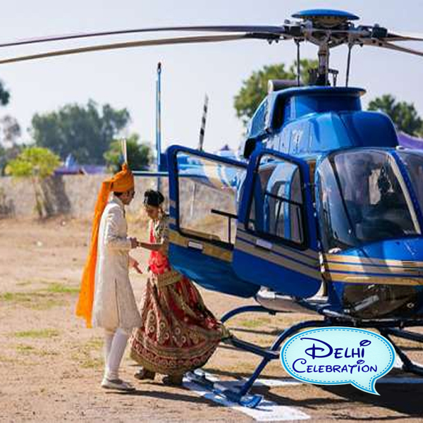 helicopter for wedding in Delhi