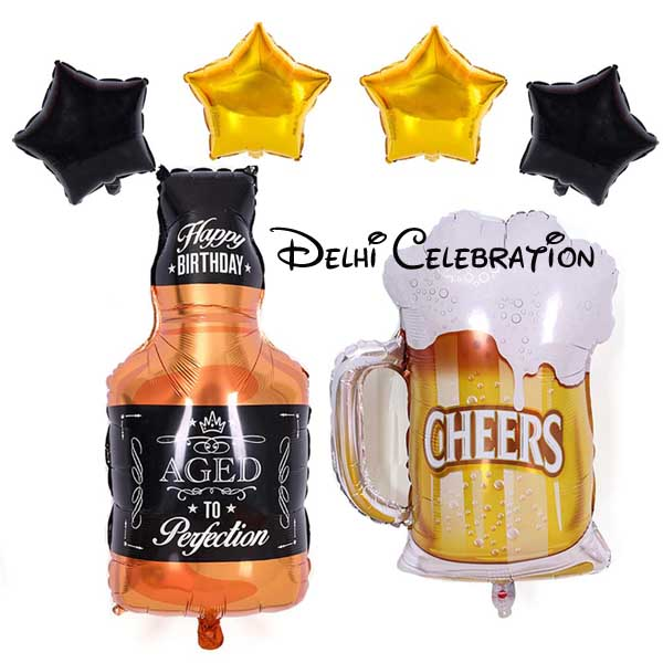 foil balloon decoration for birthday party in delhi